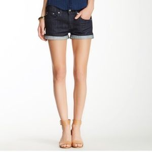 AG denim rolled shorts THE PIXIE